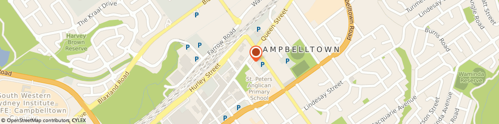 Route/map/directions to Harcourts Campbelltown, 2560 Campbelltown, SHOP 4 116 QUEEN ST
