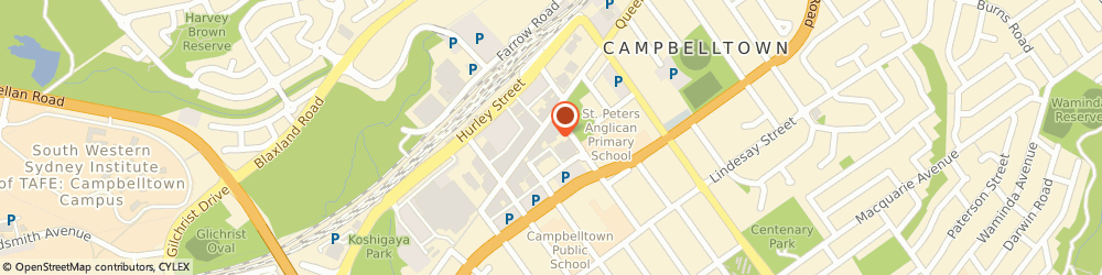 Route/map/directions to H&R Block Tax Services Campbelltown, 2560 Campbelltown, 170 Queen Street