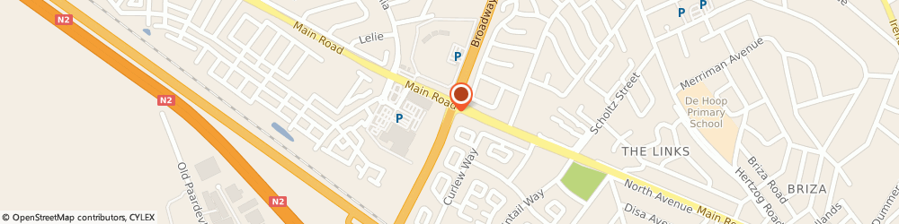 Route/map/directions to Bridgewater Swimming Pool Services, . Somerset West, MAIN RD