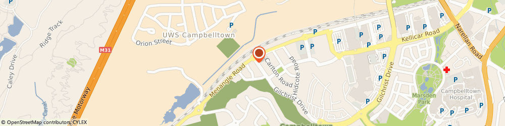 Route/map/directions to ANZ ATM, 2560 Campbelltown, 1 Gilchrist Dr