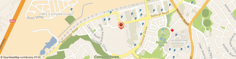 Route/map/directions to Westpac Campbelltown, 2560 Campbelltown, Lower Level Near Coles 2300 Gilchrist Ave