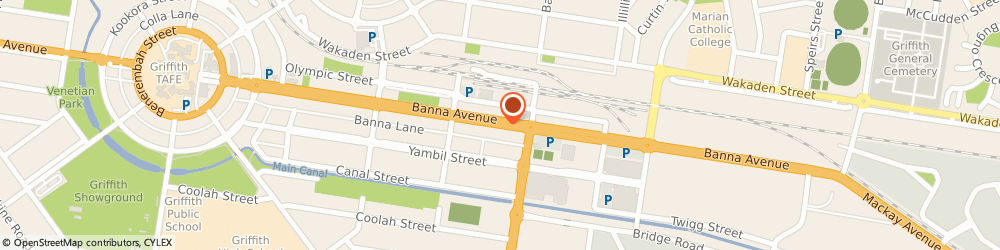 Route/map/directions to St George Bank Griffith Branch, 2680 Griffith, 172 Banna Ave