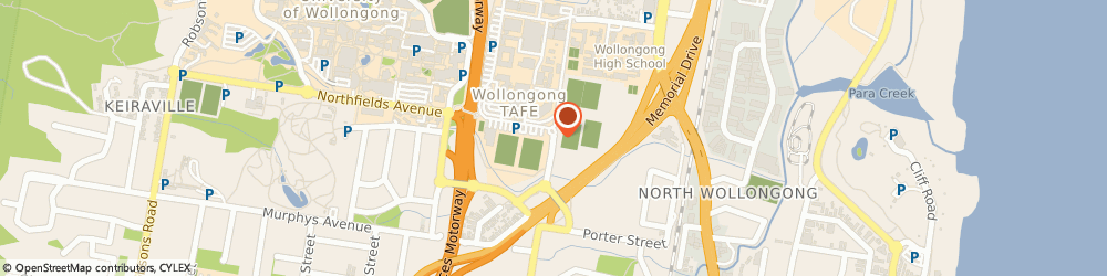 Route/map/directions to Illawarra Tafe Student Assoc. Bookshop, 2500 Wollongong, FOLEY'S RD