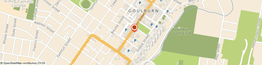 Route/map/directions to Southern Tablelands Soccer Association, 2580 Goulburn, HOCKEY PARK