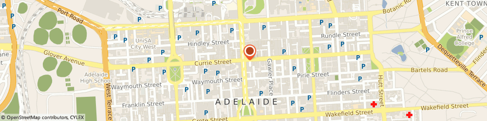 Route/map/directions to The Solar Project, 5000 Adelaide, 240 Currie St