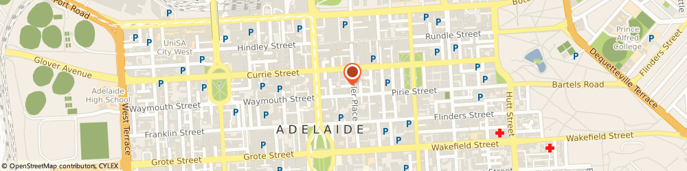 Route/map/directions to Adelaide Citizens Advice Bureau Inc, 5000 Adelaide, 2ND FLOOR, 44 PIRIE STREET