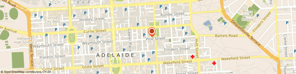 Route/map/directions to Miss Coiffure, 5001 Adelaide, 75 Hindmarsh Square