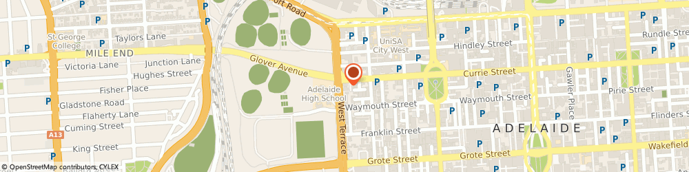 Route/map/directions to Bendigo Bank - Adelaide, 5000 Adelaide, 41 - 49 West Terrace Road