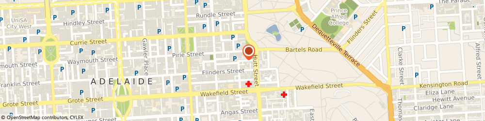 Route/map/directions to Strata Community Insurance, 5000 Adelaide, 12 Tucker St