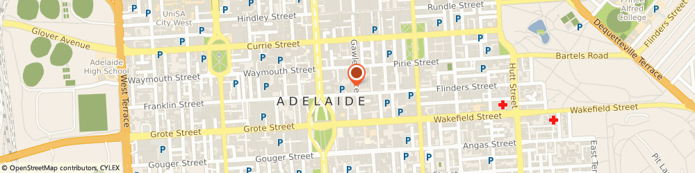 Route/map/directions to Australian Holiday Centre Adelaide, 5000 Adelaide, Level 3/26 Flinders Street