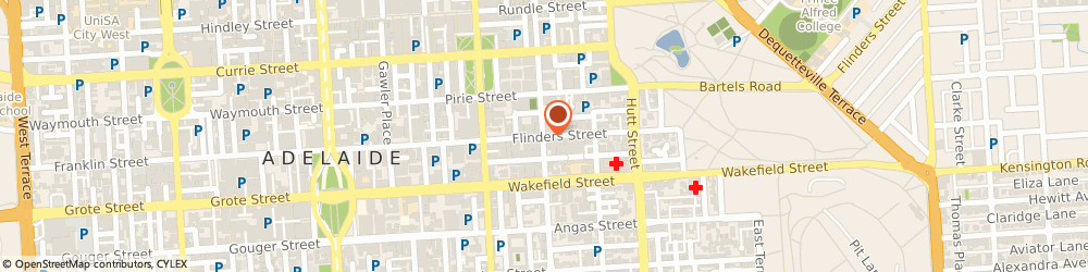 Route/map/directions to WFI, 5000 Adelaide, 6/80 Flinders St