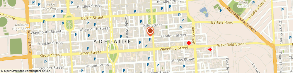 Route/map/directions to Second Floor Lounge, 5000 Adelaide, 116 Flinders Street