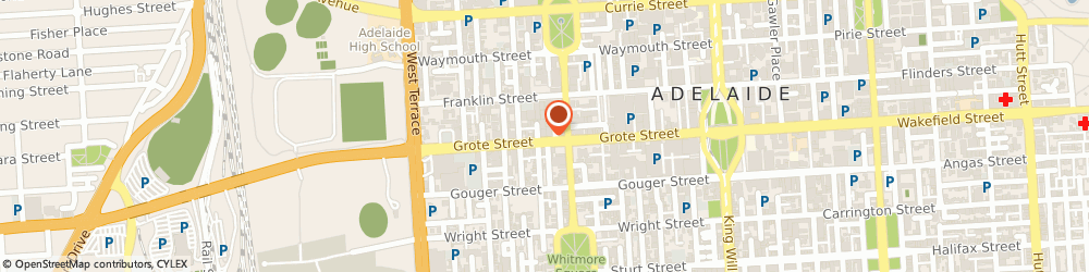 Route/map/directions to Bailetti Sports, 5000 Adelaide, 162 Grote Street