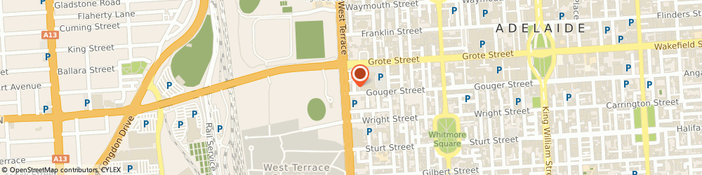 Route/map/directions to Thomas Insurance Brokers Pty. Ltd., 5000 Adelaide, 118 West Terrace