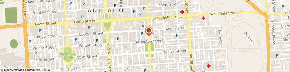 Route/map/directions to OTR Pulteney Street, 5000 Adelaide, 139 Angas St & Pulteney St