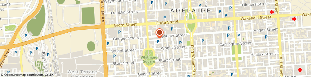 Route/map/directions to Tee Lee Travel, 5000 Adelaide, 115 Gouger Street