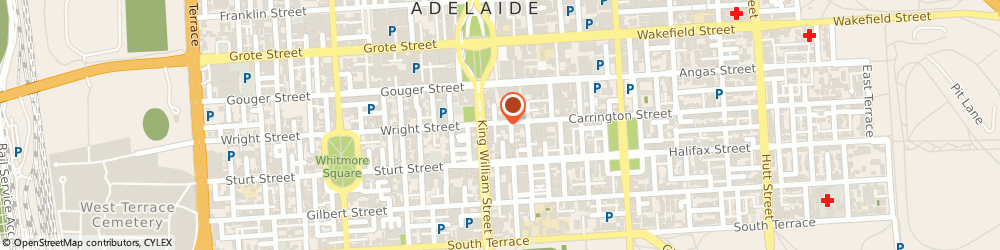 Route/map/directions to Ian Berry Insurance Services, 5000 Adelaide, 17-23 CARRINGTON ST