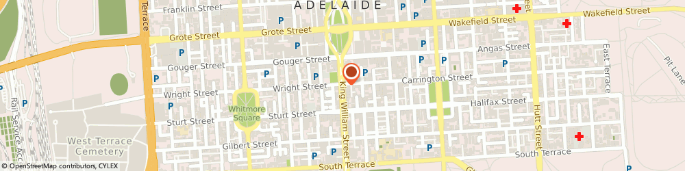 Route/map/directions to Southern Cross Chiropractic, 5000 Adelaide, 52-62 King William St