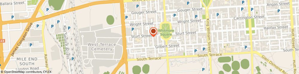 Route/map/directions to Nanyeta's Gypsy Taverne, 5000 Adelaide, 181 STURT STREET