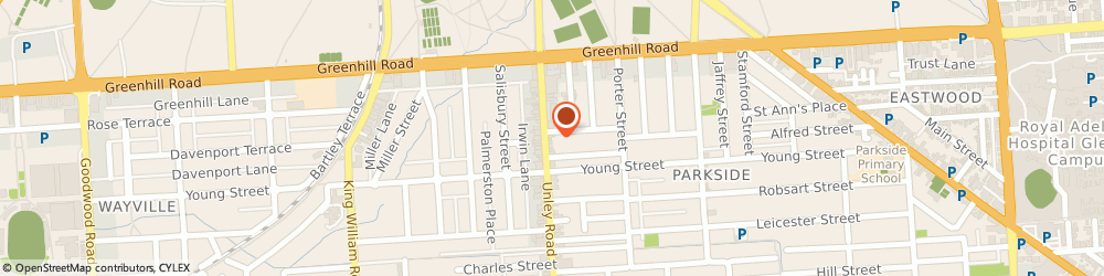 Route/map/directions to Snap Parkside, 5063 Parkside, 31 Unley Road