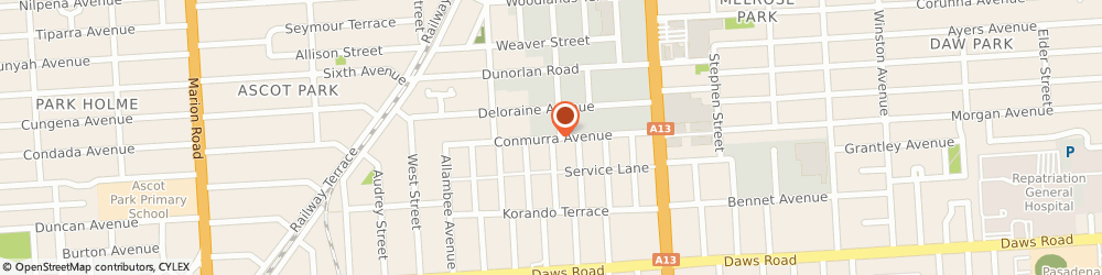 Route/map/directions to Me-Mover Fitness Australia, 5039 Edwardstown, 13 Conmurra Ave