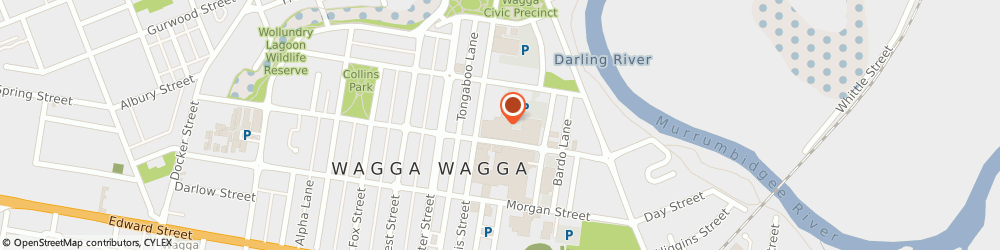 Route/map/directions to Kmart Tyre & Auto Service Wagga Wagga, 2650 Wagga Wagga, Enter Off Berry Street