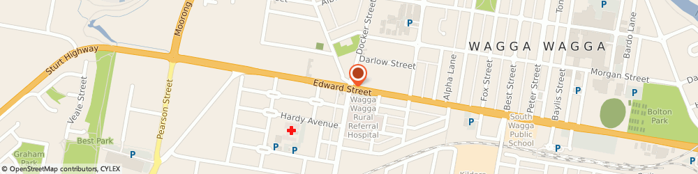 Route/map/directions to Caltex, 2650 Wagga Wagga, Docker St Cnr Edward St