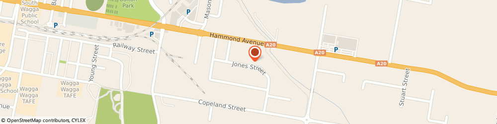 Route/map/directions to Bridgestone Service Centre - Wagga Wagga, 2650 Wagga Wagga, 7 Jones St