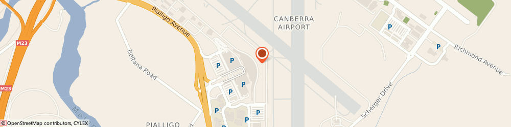 Route/map/directions to Europcar Car & Truck Rental, 2601 Canberra, Terminal Building, Canberra Airport