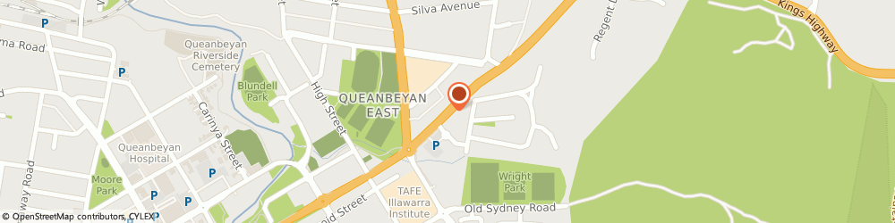 Route/map/directions to Caltex, 2620 Queanbeyan, Bungendore Rd