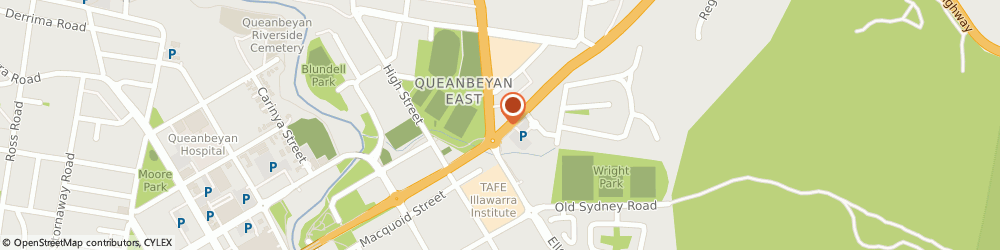 Route/map/directions to Red Rooster Queanbeyan, 2620 Queanbeyan, 3 Bungendore Road Cnr Yass Rd