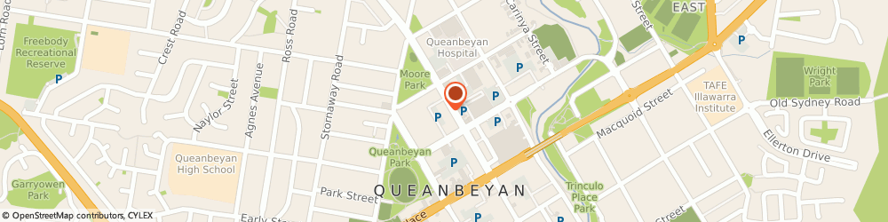 Route/map/directions to Shell Queanbeyan, 2620 Queanbeyan, 159 Crawford Street