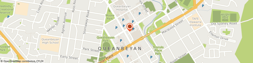 Route/map/directions to Woolworths Supermarkets - Queanbeyan, 2620 Queanbeyan, 196 Crawford Street