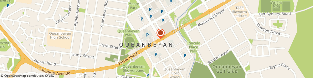 Route/map/directions to St George Bank Queanbeyan Branch, 2620 Queanbeyan, 81 Monaro St