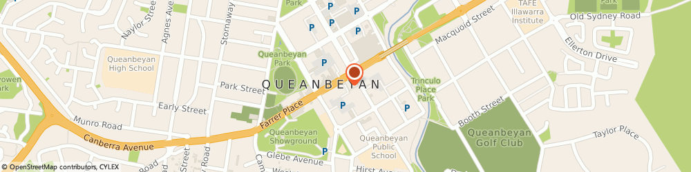 Route/map/directions to Service One Alliance Bank, 2620 Queanbeyan, 68-70 Monaro Street