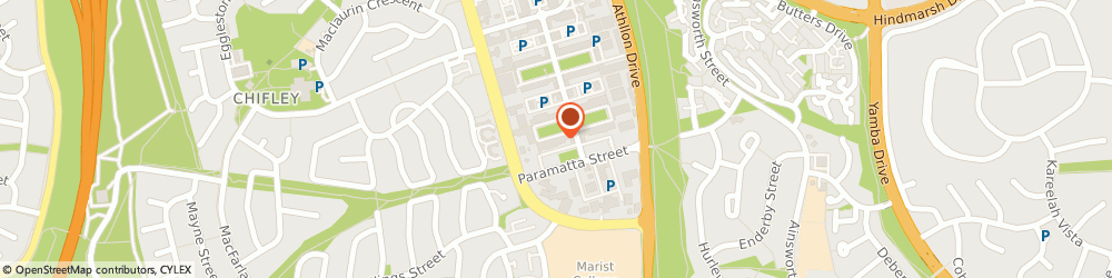 Route/map/directions to Canberra Counselling Services, 2606 Phillip, 68 Dundas Court