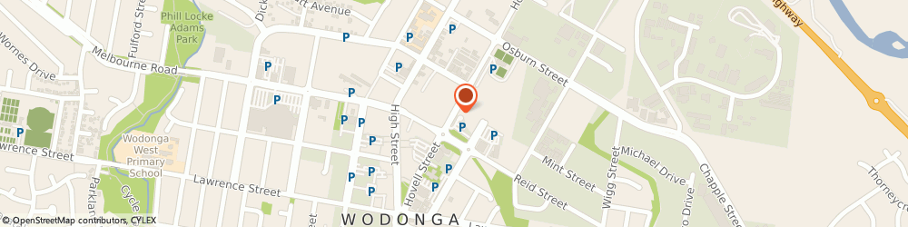 Route/map/directions to Wodonga Library, 3690 Wodonga, 126 Hovell Street