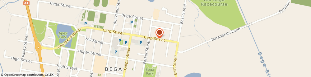 Route/map/directions to Commonwealth Bank, 2550 Bega, 192/194 Carp St