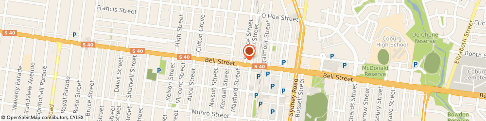 Route/map/directions to Dr. Anthony Mure, Chiropractor, 3058 Coburg, 170 Bell Street