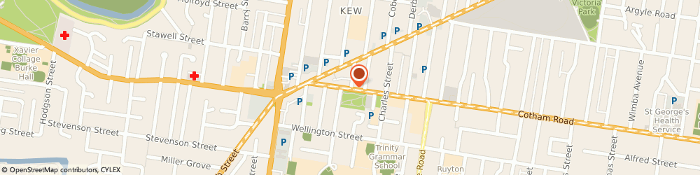 Route/map/directions to Stone Sharp Accountants - Melbourne Accountants, 3101 Kew, Ground Floor, 35 Cotham Road