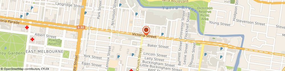 Route/map/directions to Business Centre Richmond, 3121 Richmond, Level 1, 658 Church St