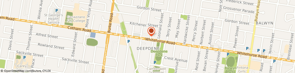 Route/map/directions to Snow Pony Cafe, 3103 Balwyn, 95 Whitehorse Rd