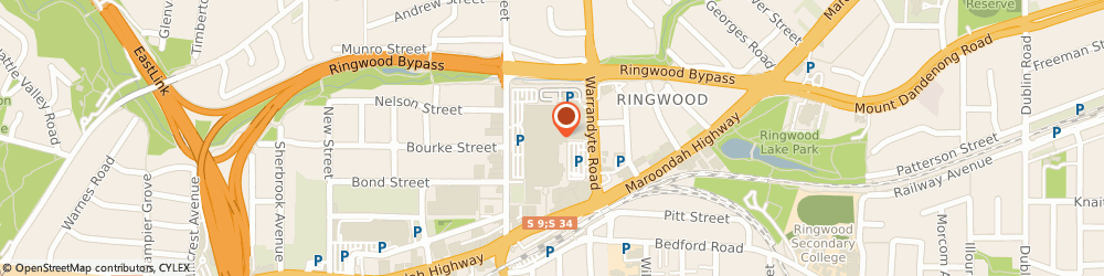 Route/map/directions to Camera House, 3134 Ringwood, 171-175 Maroondah Highway