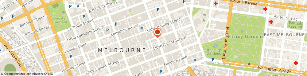 Route/map/directions to Westpac Banking Corporation, 3000 Melbourne, 190 Bourke St