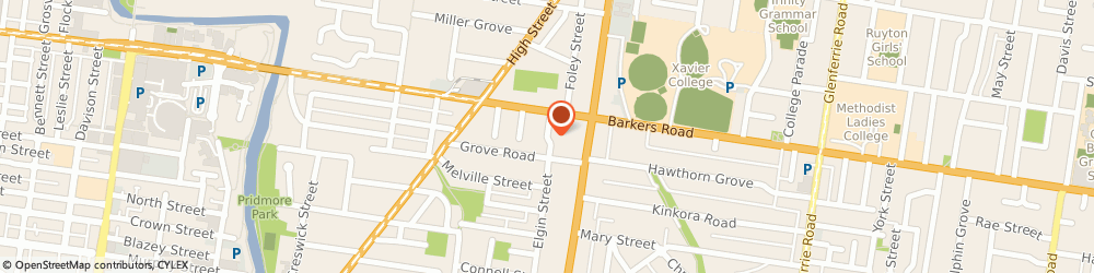 Route/map/directions to The Essentials Lab, 3122 Hawthorn, 65 Elgin St