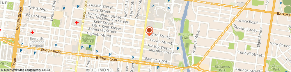 Route/map/directions to Prest Laundry, 3121 Richmond, 125/129 Burnley St