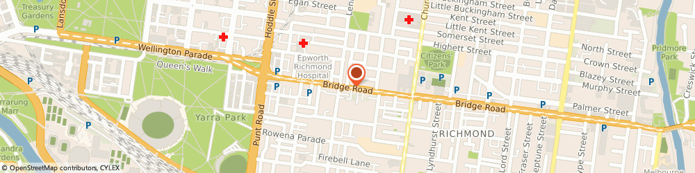 Route/map/directions to ANZ, 3121 Richmond, 143-151 Bridge Road