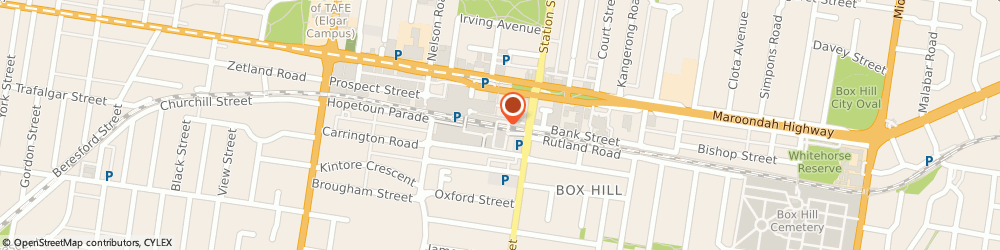 Route/map/directions to Westpac Box Hill, 3128 Box Hill, Atm 5 Near Food Court Grd Flr 1 Main St