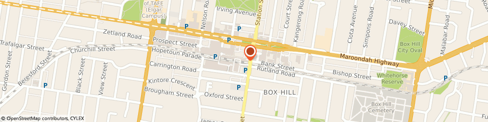 Route/map/directions to Westpac Box Hill, 3128 Box Hill, Ground Floor 1 Main St