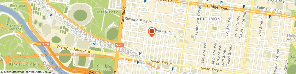 Route/map/directions to Melbourne Investigations, 3121 Richmond, 2 Montgomery St
